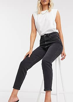 Jean mom stretch - Noir - Noir