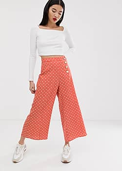 Jupe-culotte à pois - Orange
