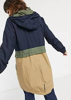 Esprit Parka color block - Bleu marine-Navy