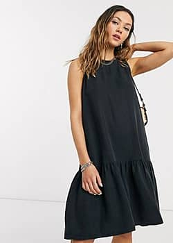 Noisy May Robe courte sans manches style grunge - Noir