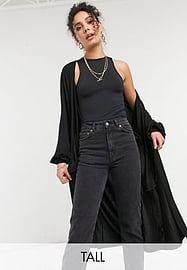 Noisy May Tall Cardigan long avec manches larges - Noir