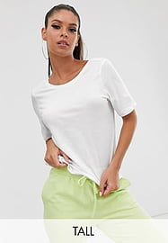 Noisy May Tall Dring - T-shirt crop top à manches courtes-Blanc