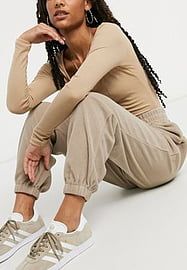 Stradivarius Jogger en polaire (ensemble) - Taupe-Neutral